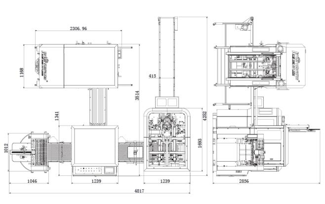 Rigid box making machine, Rigid box maker, Rigid box line